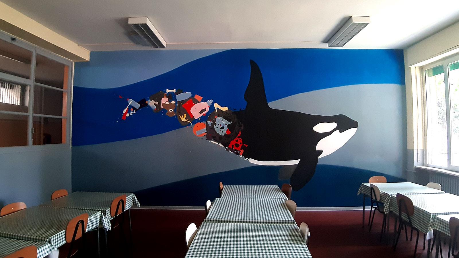 Murale per l'ambiente nella scuola Istituto San Giuseppe